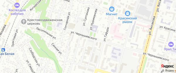 Улица Нуриманова на карте Уфы с номерами домов
