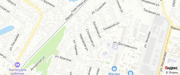 Столярная улица на карте Уфы с номерами домов