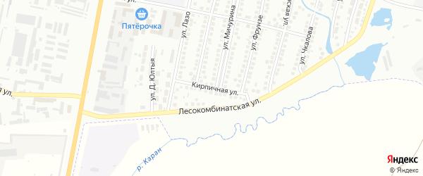 Кирпичная улица на карте Мелеуза с номерами домов