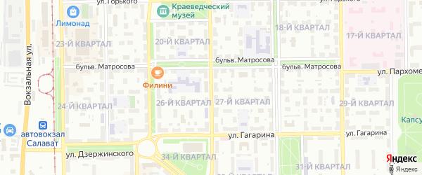 Улица Гафури на карте Салавата с номерами домов