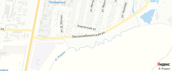 Лесокомбинатская улица на карте Мелеуза с номерами домов