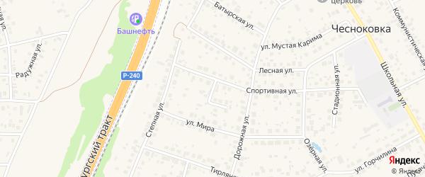 Переулок Жукова на карте села Чесноковки с номерами домов
