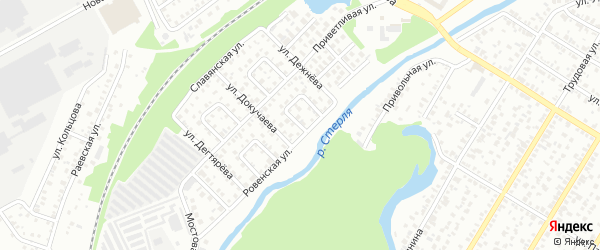 Ровенский 1-й переулок на карте Стерлитамака с номерами домов