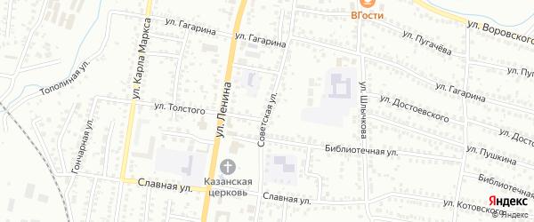 Советская улица на карте Мелеуза с номерами домов