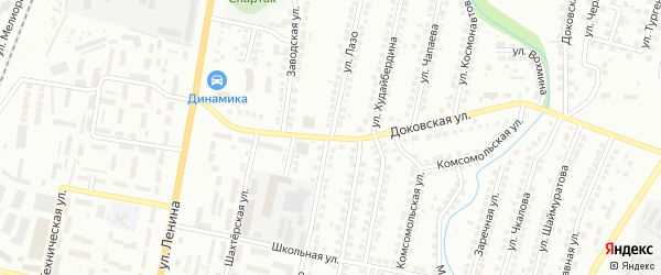 Улица Лазо на карте Мелеуза с номерами домов