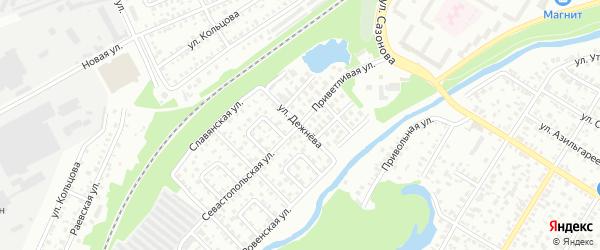 Улица Дежнева на карте Стерлитамака с номерами домов