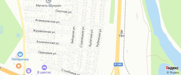 Булатная улица на карте Уфы с номерами домов