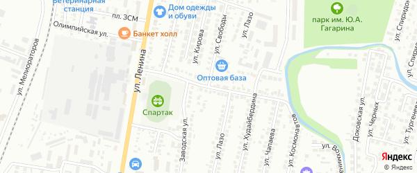 Инкубаторная улица на карте Мелеуза с номерами домов