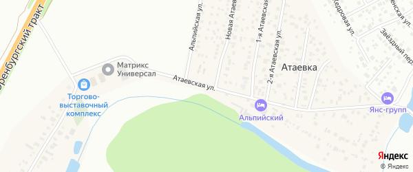 Атаевская улица на карте деревни Атаевки с номерами домов
