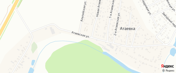 Атаевская 2-я улица на карте деревни Атаевки с номерами домов