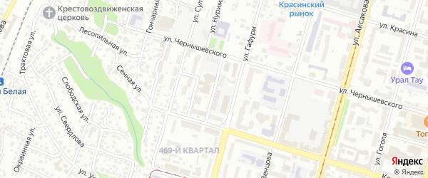 Госпитальная улица на карте Уфы с номерами домов