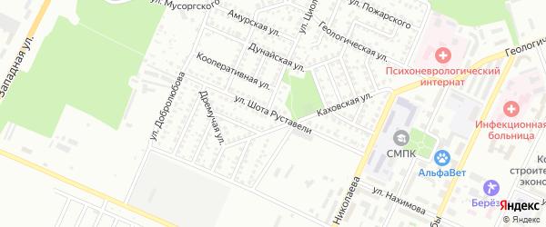 Улица Шота Руставели на карте Стерлитамака с номерами домов