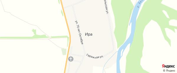 Карта села Иры города Кумертау в Башкортостане с улицами и номерами домов