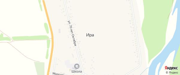 Гаражный переулок на карте села Иры с номерами домов