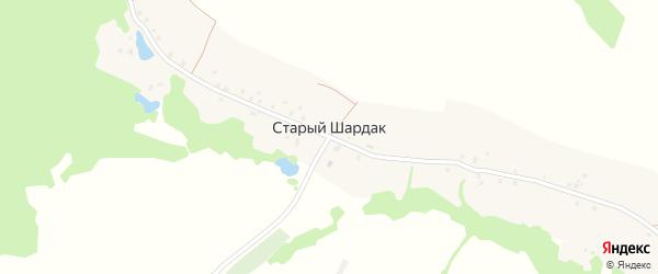 Центральная улица на карте деревни Старого Шардака с номерами домов
