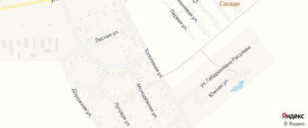 Тополиная улица на карте Уфы с номерами домов