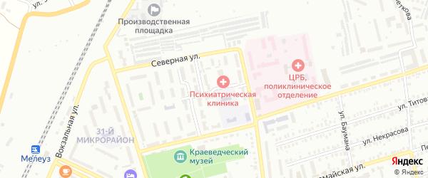 Улица Куйбышева на карте Мелеуза с номерами домов