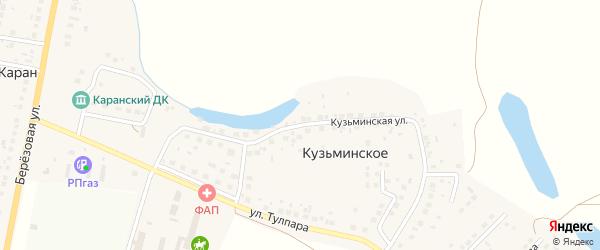 Кузьминская улица на карте деревни Кузьминского с номерами домов