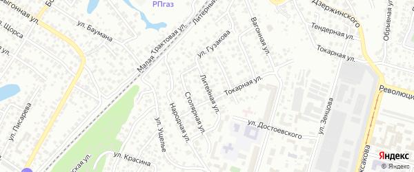 Литейная улица на карте Уфы с номерами домов