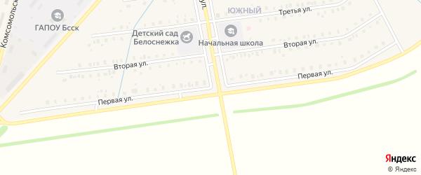 Первая улица на карте села Старобалтачево с номерами домов