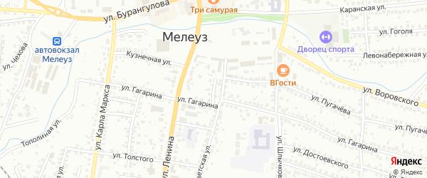 Советский 1-й переулок на карте Мелеуза с номерами домов
