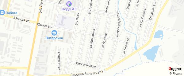 Улица Мичурина на карте Мелеуза с номерами домов