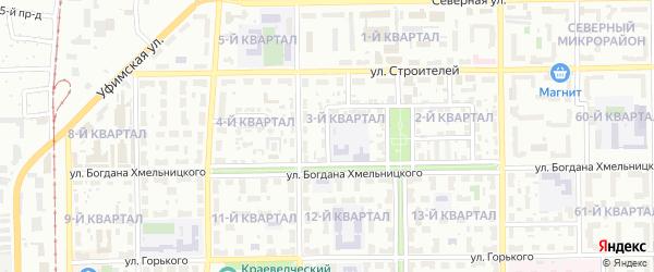 Западная улица на карте Салавата с номерами домов