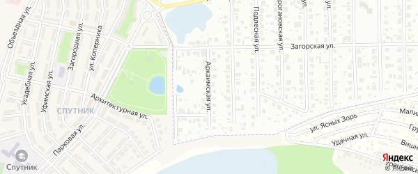 Аркаимская улица на карте Уфы с номерами домов
