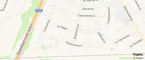 Улица Мира на карте села Чесноковки с номерами домов