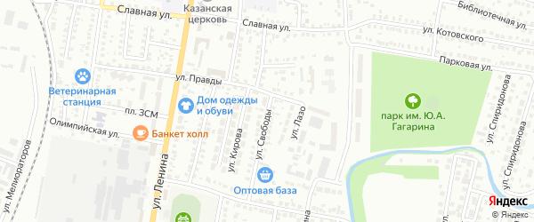 Улица Свободы на карте Мелеуза с номерами домов