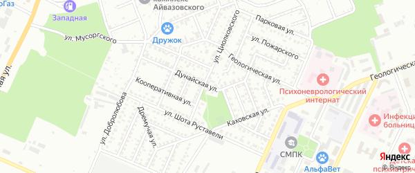 Дунайская улица на карте Стерлитамака с номерами домов