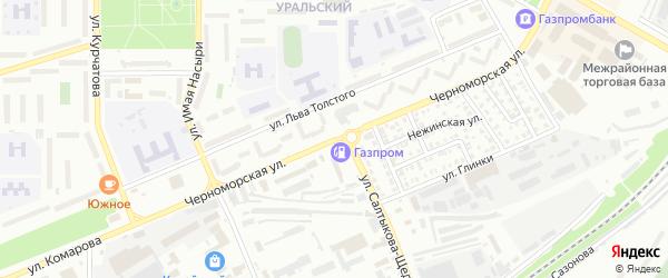 Черноморская улица на карте Стерлитамака с номерами домов