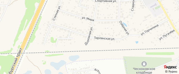 Тирлянская улица на карте села Чесноковки с номерами домов