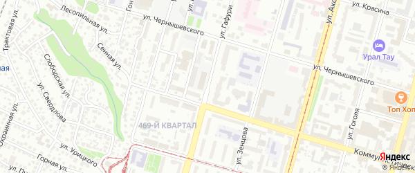 Улица Гафури на карте Уфы с номерами домов