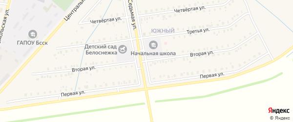 Вторая улица на карте села Старобалтачево с номерами домов