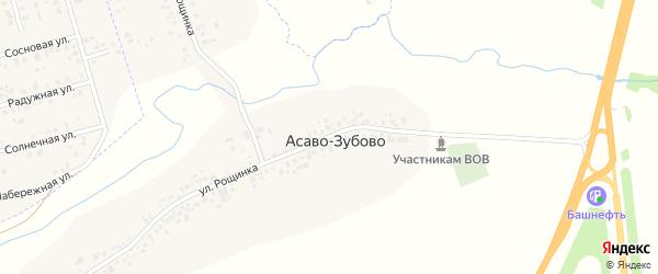 Улица Рощинка на карте села Асаво-Зубово с номерами домов