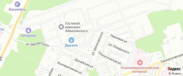 Улица Тимирязева на карте Стерлитамака с номерами домов