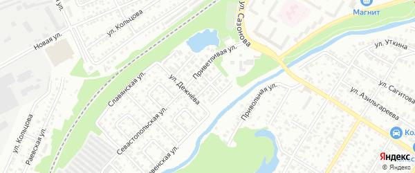 Улица Бережного на карте Стерлитамака с номерами домов