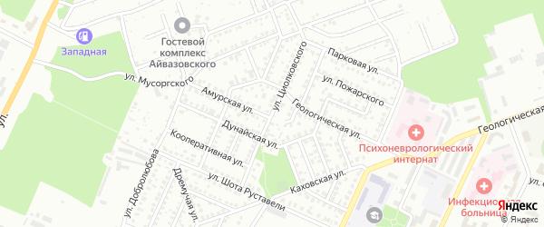 Улица Циолковского на карте Стерлитамака с номерами домов