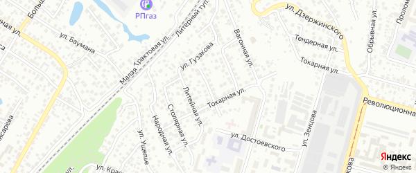 Беломорская улица на карте Уфы с номерами домов