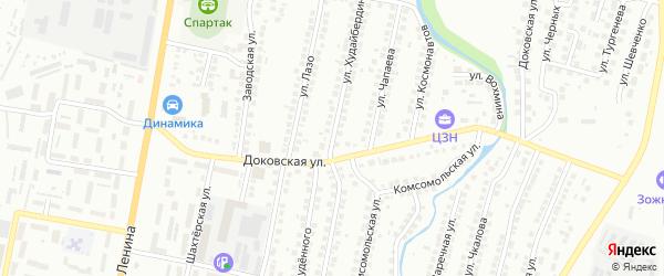Улица Худайбердина на карте Мелеуза с номерами домов