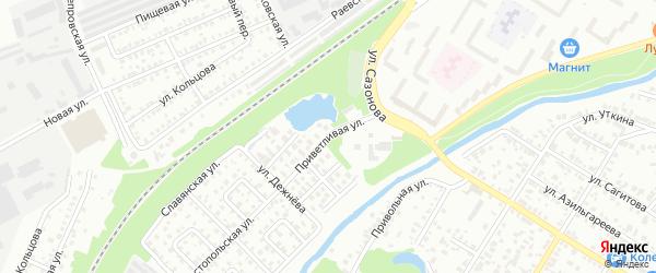 Приветливая улица на карте Стерлитамака с номерами домов