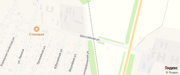 Шоссейная улица на карте села Наумовки с номерами домов