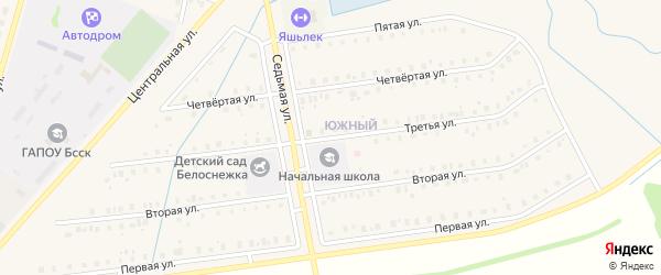Третья улица на карте села Старобалтачево с номерами домов