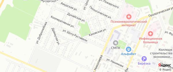 Каховская улица на карте Стерлитамака с номерами домов