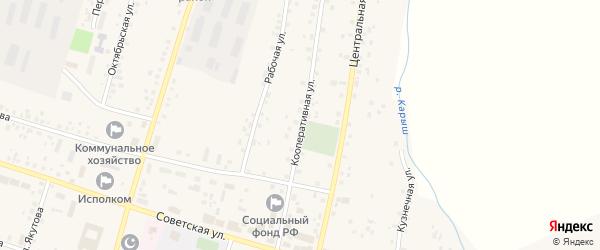 Кооперативная улица на карте села Старобалтачево с номерами домов