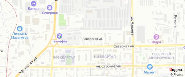Заводская улица на карте Салавата с номерами домов