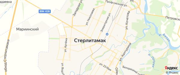 Карта Стерлитамака с районами, улицами и номерами домов