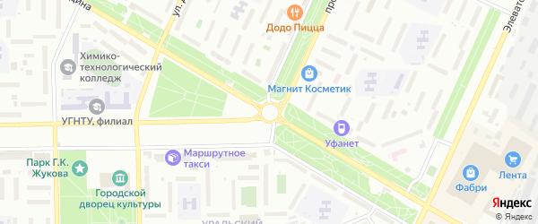 Вокзальный переулок на карте Стерлитамака с номерами домов