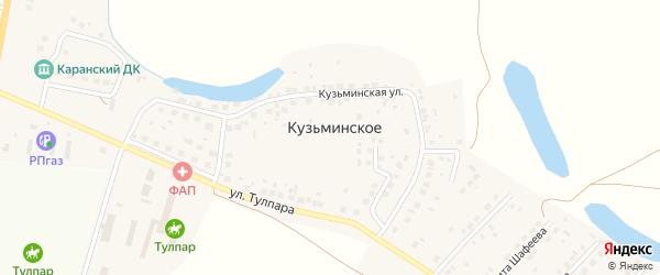 Улица Хлопотина на карте деревни Кузьминского с номерами домов